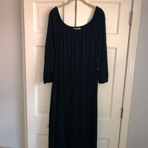 Chico's Black Peasant Maxi Dress Size 3